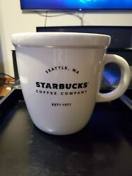 Starbucks 2016 Ceramic Giant Large Abbey Classic Mug Collectible Limited Edition