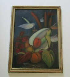 1930's Antique Expressionism Modernism Still Life Signed Russian Japanese Hi