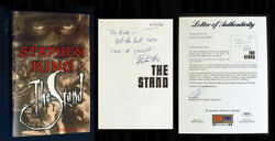 Psa/dna Stephen King Signed And Dated - The Stand W/ Holdorf Dj Art, Nf