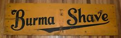 Rare Vintage Wood Burma Shave Yellow And Black Advertising Road Sign
