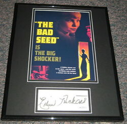 Eileen Heckert Signed Framed 11x14 Photo Display Jsa The Bad Seed