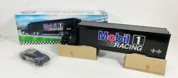 Vintage1994 Mobil 1 One Racing Toy Race Car Carrier Truck Series Limited Edition