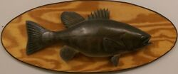 Desirable Lawrence C. Irvine 1918-1998 Carved And Painted Small Mouth Bass.