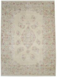 One Of Kind Antique Muted Floral Classic 9x12 Handmade Oriental Rug Decor Carpet