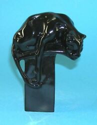 9942004 Porcelain Figurine Wagner And Apel Black Panther Degli H18cm