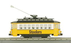 Mth O Scale Train Pittsburgh Steelers Trolley Set R-t-r 30-4169-1 New Retired S