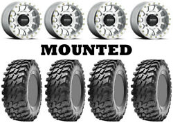 Kit 4 Maxxis Rampage Tires 28x10-14 On Method 401 Beadlock Machined Wheels Can