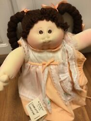 Vintage 1981 Xavier Roberts Girl With Papers And Nametag.