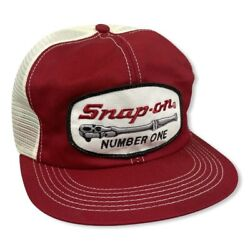 Vintage Snap-on Trucker Hat Patch Farm K Brand Mesh 2 Tone K Products Usa Made