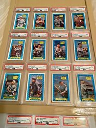 Complete 1972 Kelloggand039s All-time Baseball Greats All Graded 8and039s And 9and039s