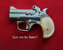 Pair Of Kirinite Imt. Antique White Pearl Grips For The Bond Arms Models