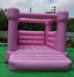 Pink Blush Bounce House White Wedding Bounce House Jumper Inflatable Brincolinandnbsp