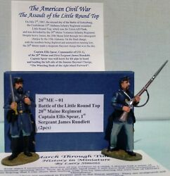 March Through Times Civil War Me-01 20th Maine Captain Spear And 1st Sergeant