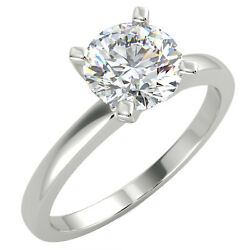 1.01 Ct Round Cut Vs1/d Solitaire Diamond Engagement Ring 14k White Gold