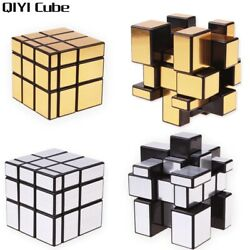 3x3x3 Speed Magic Mirror Cube Silver Gold Stickers Professional Puzzle Toys