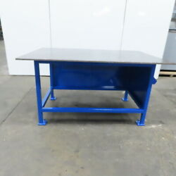 3/4 Thick Top Steel Fabrication Welding Layout Table Work Bench 72x48x38