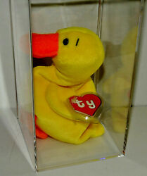 Authenticated Quackers Duck With Wings 2nd/1st Rare 1994 Ty Beanie Baby