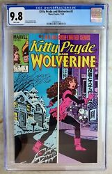 Kitty Pryde And Wolverine 1 Marvel 1984 Cgc 9.8 Nm/mt White Pages Comic U0118