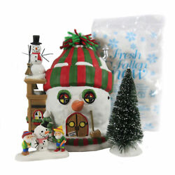 Department 56 House Building Xmas Cheer North Pole Holiday Gift Set/4 6007264