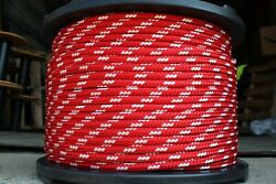 Novatech Xle Halyard Sheet Line Dacron Sailboat Rope 7/16 X 100and039 Red/white