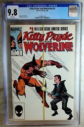 Kitty Pryde And Wolverine 3 Marvel 1985 Cgc 9.8 Nm/mt White Pages Comic U0129