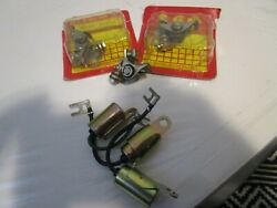 Nos Suzuki 72-77 Gt550 Gt750contact Points And Condensers 33160-34020/33170-34020