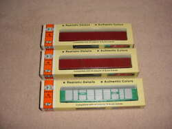 N Scale Pair Of Con-cor Tri-level Auto Rack Cars , Nyc + 2-undecorated