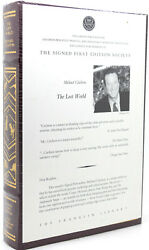 Michael Crichton Lost World Signed 1st Franklin Library 1st Edition 1st Printing