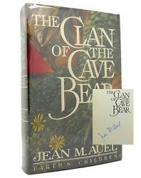 Jean M. Auel The Clan Of The Cave Bear Signed 1st 1st Edition 1st Printing