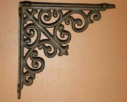 French Country Sewing Room Open Shelving Shelf Brackets Cast Iron 8 - B-69b