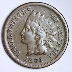1864 L Indian Head Cent Penny Choice Xf Free Shipping E124 Qchj