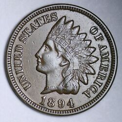 1894 Indian Head Cent Penny Choice Unc Uncirculated Ms Free P/h E142 Jmm