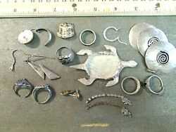 Sterling Marked .925 Silver Scrap/broken/mostly Unwearable Wholesale 90.7 Grams