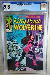 Kitty Pryde And Wolverine 1 Marvel 1984 Cgc 9.8 Nm/mt White Pages Comic U0131