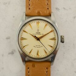 C.1956 Vintage Tudor Oyster 34 By Rolex Automatic Watch Ref.7909 In Steel