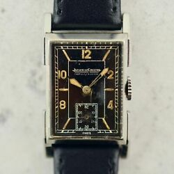 C.1936 Vintage Jaeger-lecoultre Uniplan Ref.383 Watch Cal.410 In Steel With Box