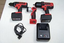 """New Snap On Cordless 1/2"""" Impact, Hammer Drill And Led Light W/2 Batteries Charger"""