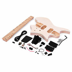 Muslady Unfinished Diy Electric Guitar Kits 6 Strings 3-way Selector Switch R6j6
