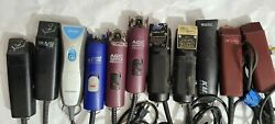Lot Of 11 Dog Grooming Andis Oster Whal Clippers