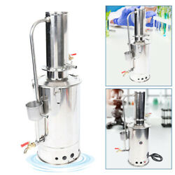 Electric Water Distiller Pure Water Distiller Stainless Steel W/ Silicone Pipe
