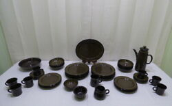 Vintage 42 Pieces Of Franciscan Madeira Brown Green Earthenware Stoneware China