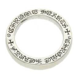 Chrome Hearts/chrome Hearts Size 9.5 3mm Spacer Pln/3mm Plane Silver Ring 5.58g