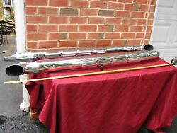 Vintage Thrush Side Kick Chrome Side Pipes  Overall Length 61inches