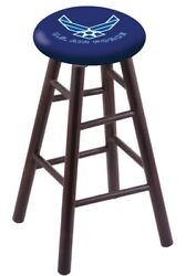 Holland Bar Stool Co. Maple Counter Stool In Dark Cherry Finish With U.s. Air...
