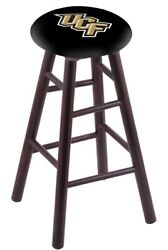 Holland Bar Stool Co. Maple Counter Stool In Dark Cherry Finish With Central ...