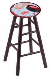 Holland Bar Stool Co. Maple Counter Stool In Dark Cherry Finish With Detroit ...