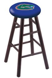 Holland Bar Stool Co. Maple Counter Stool In Dark Cherry Finish With Florida ...