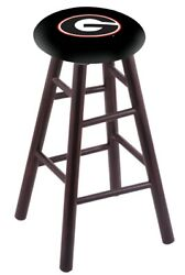 Holland Bar Stool Co. Maple Counter Stool In Dark Cherry Finish With Georgia ...
