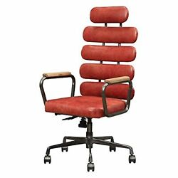 92109 Executive Office Chair - Antique Red Top Grain Leather