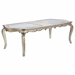 62200 Dining Table - Antique Champagne Finish